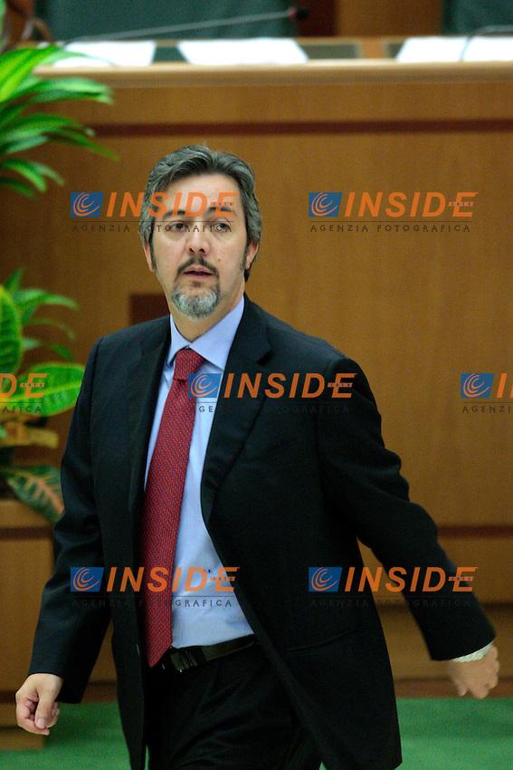 Francesco Battistoni.Roma 21/09/2012 Convocazione ordinaria del Consiglio Regionale della Regione Lazio.Photo Samantha Zucchi Insidefoto