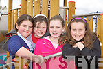 Moya Sheehan, Alex Sheehan, Clodagh Byrne and Ellen Sheehan enjoying the opening of the new playground in Castleisland on Sunday