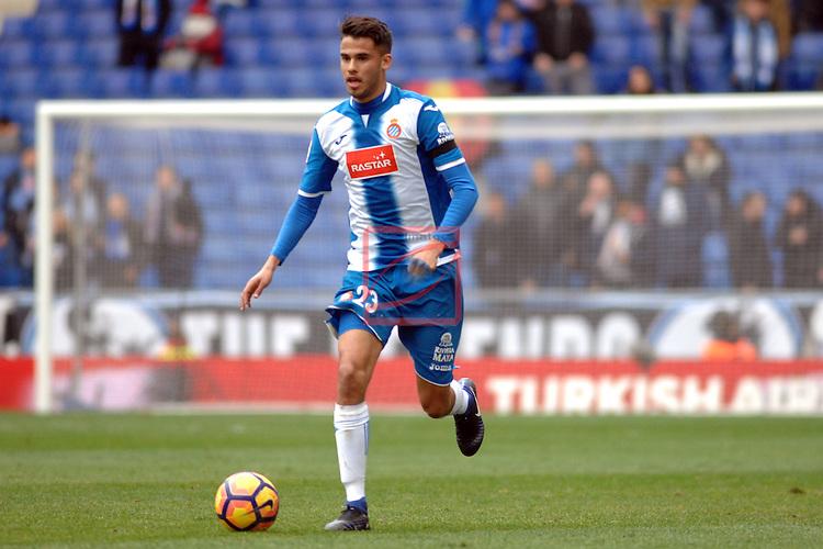League Santander 2016/2017. Game: 19.<br /> RCD Espanyol vs Granada CF: 3-1.<br /> Diego Reyes.