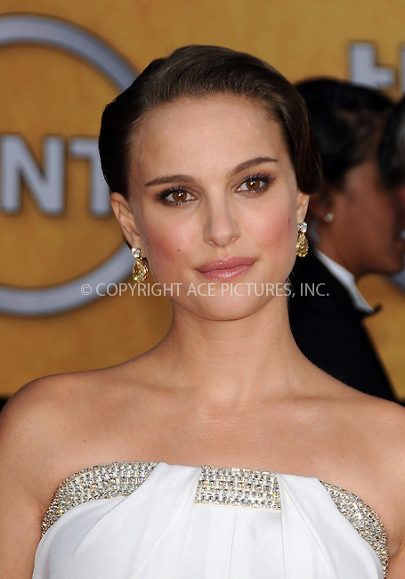 WWW.ACEPIXS.COM . . . . . ....January 30 2011, Los Angeles....Actress Natalie Portman arriving at the 17th Annual Screen Actors Guild Awards held at The Shrine Auditorium on January 30, 2011 in Los Angeles, CA....Please byline: PETER WEST - ACEPIXS.COM....Ace Pictures, Inc:  ..(212) 243-8787 or (646) 679 0430..e-mail: picturedesk@acepixs.com..web: http://www.acepixs.com