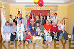 HOUSE PARTY: The family of Liam O'Dowd Aldewrwood Road, held a surprise 60th birthday party for him at his home on Friday night in which he wont forget. (liam is seatyed centre).