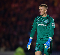 Everton's Jordan Pickford<br /> <br /> Photographer Andrew Vaughan/CameraSport<br /> <br /> The Carabao Cup Second Round - Lincoln City v Everton - Wednesday 28th August 2019 - Sincil Bank - Lincoln<br />  <br /> World Copyright © 2019 CameraSport. All rights reserved. 43 Linden Ave. Countesthorpe. Leicester. England. LE8 5PG - Tel: +44 (0) 116 277 4147 - admin@camerasport.com - www.camerasport.com