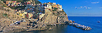 The village of Manarola, Cinque Terre, Italy<br /> <br /> Image taken on large format panoramic 6cm x 17cm transparency. Available for licencing and printing. email us at contact@widescenes.com for pricing.
