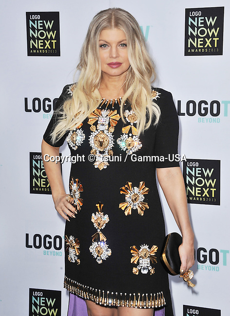 Stacey Ferguson, Fergie arriving at the Logo New Now Next Awards 2013 at the Fonda Theatre in Los Angeles.