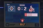 20.01.2018, Volksparkstadion, Hamburg, GER, 1.FBL, Hamburger SV vs 1. FC Koeln<br /> <br /> im Bild<br /> Anzeigetafel / Endstand, Feature<br /> <br /> Foto &copy; nordphoto / Ewert