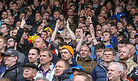 Preston North End fans watch on during the second half<br /> <br /> Photographer Alex Dodd/CameraSport<br /> <br /> The EFL Sky Bet Championship - Huddersfield Town v Preston North End - Friday 14th April 2016 - The John Smith's Stadium - Huddersfield<br /> <br /> World Copyright &copy; 2017 CameraSport. All rights reserved. 43 Linden Ave. Countesthorpe. Leicester. England. LE8 5PG - Tel: +44 (0) 116 277 4147 - admin@camerasport.com - www.camerasport.com
