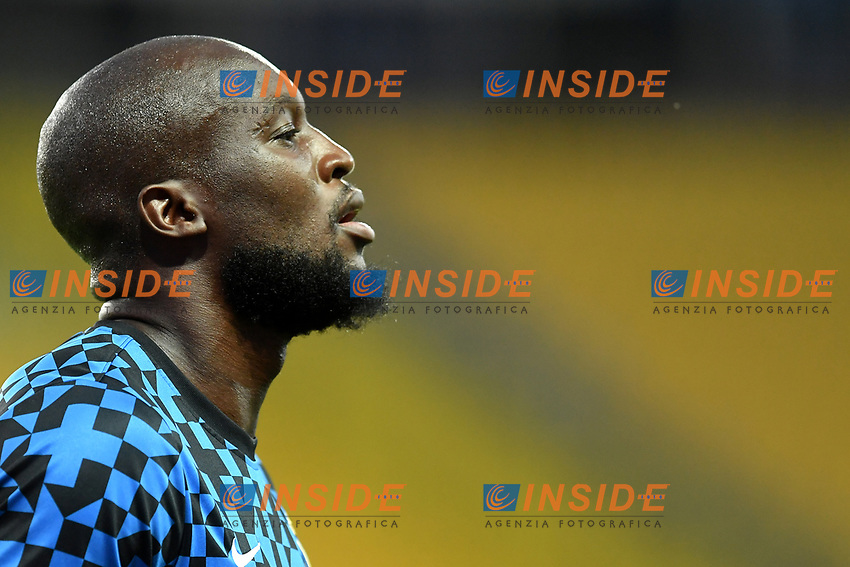 Romelu Lukaku of FC Internazionale reacts prior to the Serie A football match between Parma and FC Internazionale at stadio Ennio Tardini in Parma ( Italy ), June 28th, 2020. Play resumes behind closed doors following the outbreak of the coronavirus disease. <br /> Photo Andrea Staccioli / Insidefoto