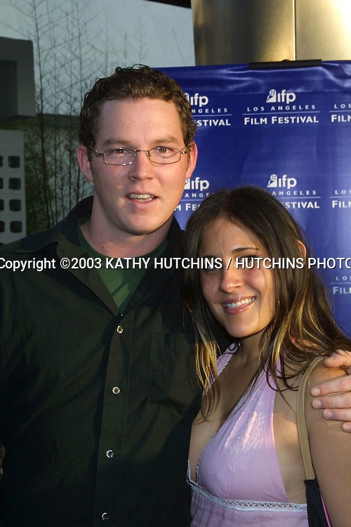 "©2003 KATHY HUTCHINS / HUTCHINS PHOTO AGENCY.OPENING NIGHT 2003 IFP LOS ANGELES FILM FESTIVAL.LA PREMIERE OF ""THE COOLER"".ARCLIGHT CINERAMA DOME.JUNE 11, 2003..SHAWN HATOSY AND DATE"