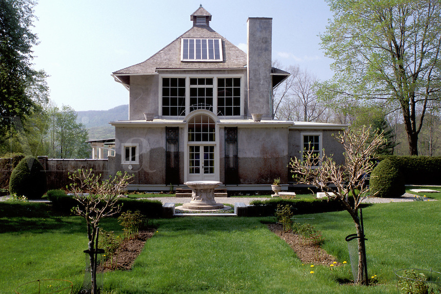 Stockbridge, Massachusetts, The Berkshires, Chesterwood studio and summer home of sculptor Daniel Chester French, A National Trust Historic Site in Stockbridge in the spring.