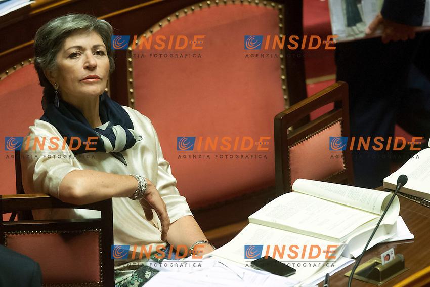 Anna Finocchiaro<br /> Roma 31-07-2014  Senato. Discussione sul DdL Riforme costituzionali che prevede anche la riforma del Senato. <br /> Photo Samantha Zucchi Insidefoto
