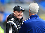 Cardiff's Russell Slade looks on during the Sky Bet Championship League match at The Cardiff City Stadium.  Photo credit should read: David Klein/Sportimage