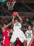 North Texas Mean Green forward Tony Mitchell (13) in action during the game between the Louisiana Lafayette Ragin Cajuns and the University of North Texas Mean Green at the North Texas Coliseum,the Super Pit, in Denton, Texas. Louisiana Lafayette defeats UNT 57 to 53.