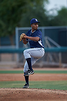 AZL Padres 2 relief pitcher Eudi Asencio (11) during an Arizona League game against the AZL White Sox on June 29, 2019 at Camelback Ranch in Glendale, Arizona. The AZL Padres 2 defeated the AZL White Sox 7-3. (Zachary Lucy/Four Seam Images)