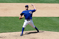 August 9, 2009:  Pitcher J.R. Mathes of the Iowa Cubs delivers a pitch during a game at Wrigley Field in Chicago, IL.  Iowa is the Pacific Coast League Triple-A affiliate of the Chicago Cubs.  Photo By Mike Janes/Four Seam Images