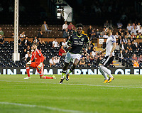GOAL - Bristol Rovers' Ellis Harrison makes it 1-0 during the Carabao Cup match between Fulham and Bristol Rovers at Craven Cottage, London, England on 22 August 2017. Photo by Carlton Myrie.