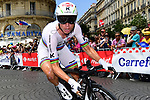 World Champion Tony Martin (GER) Katusha Alpecin in action during Stage 20 of the 104th edition of the Tour de France 2017, an individual time trial running 22.5km from Marseille to Marseille, France. 22nd July 2017.<br /> Picture: ASO/Alex Broadway | Cyclefile<br /> <br /> <br /> All photos usage must carry mandatory copyright credit (&copy; Cyclefile | ASO/Alex Broadway)