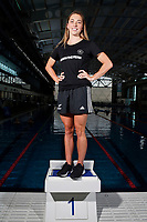 Georgia Marris, New Zealand swimming team announcement for the 2018 Commonwealth Games. Sir Owen G. Glenn National Aquatic Centre, Auckland. 22 December 2017. Copyright Image: William Booth / www.photosport.nz