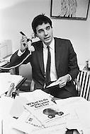 February 1971, Washington, DC, USA --- Consumer Advocate Ralph Nader at His Office --- Image by © JP Laffont