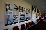 Display boards in the bar celebrating Penrith's history. Penrith AFC V Hebburn Town, Northern League Division One, 22nd December 2018. Penrith are the only Cumbrian team in the Northern League. All the other teams are based across the Pennines in the north east.<br />