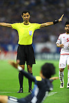 Abdulrahman Al-Jassim (Referee),<br /> SEPTEMBER 1, 2016 - Football / Soccer :<br /> Referee Abdulrahman Al-Jassim calls no foul as Takashi Usami of Japan appeals in the foreground during the FIFA World Cup Russia 2018 Asian Qualifiers Final Round Group B match between Japan 1-2 United Arab Emirates at Saitama Stadium 2002 in Saitama, Japan. (Photo by Kenzaburo Matsuoka/AFLO)