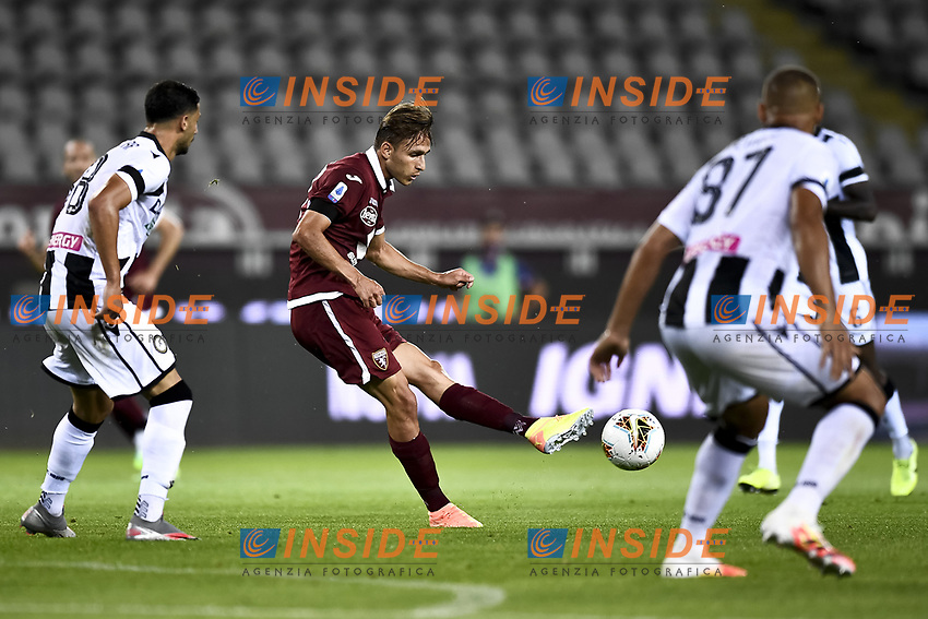 Simone Edera of Torino FC in action during the Serie A football match between Torino FC and Udinese at Olimpico stadium in Torino ( Italy ), June 23th, 2020. Play resumes behind closed doors following the outbreak of the coronavirus disease. <br /> Photo Image Sport / Insidefoto
