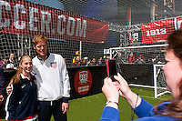 ESPN analyst and former men's national team defender Alexi Lalas poses for a photo during the centennial celebration of U. S. Soccer at Times Square in New York, NY, on April 04, 2013.