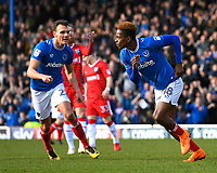 Jamal Lowe of Portsmouth right scores the first goal and celebrates with Kal Naismith of Portsmouth during Portsmouth vs Gillingham, Sky Bet EFL League 1 Football at Fratton Park on 10th March 2018
