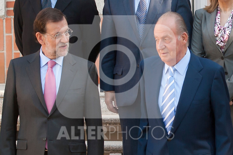 Spain´s King Juan Carlos I in the Presidency of the Council of Ministers. In the picture The Prime Minister Mr. Mariano Rajoy and Spain´s King Juan Carlos I.  July 13, 2012. (ALTERPHOTOS/Ricky)
