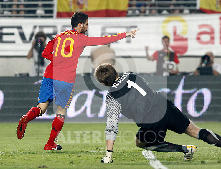 Spain's Cesc Fabregas celebrates during Friendly match. June 8, 2010. (ALTERPHOTOS/Acero)