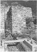 Mining-related structure, perhaps mill or shaft house at Cottonwood which is at the end of the Crestone Branch at MP 279.<br /> Cottonwood, CO  ca. 1980