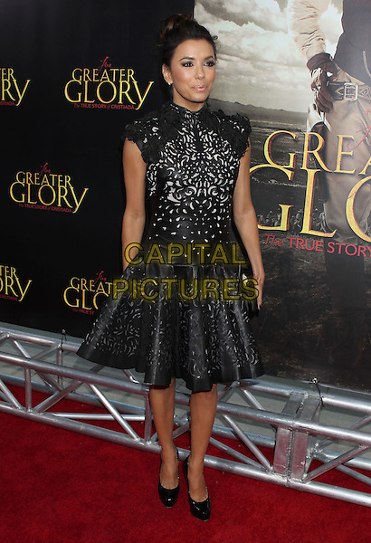 Eva Longoria.'For Greater Glory' LA premiere held at the AMPAS Samuel Goldwyn Theater, Beverly Hills, California, USA..31st May 2012 .full length dress black leather perforated pattern hair up bun .CAP/ADM/RE.©Russ Elliot/AdMedia/Capital Pictures.