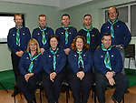 Stamullen Scout Leaders Peter O'Brien, Brian Kennedy, Robert Holland, Paul Daly, Pat Noonan, Kim Darcy, Grace Keoghan, Michelle O'Hare and Glen Monk at their Investiture in the village. Photo:Colin Bell/pressphotos.ie