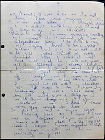 BNPS.co.uk (01202 558833)<br /> Pic: Gorringes/BNPS<br /> <br /> ****must use full byline****<br /> <br /> Letters from Reggie Kray to Frankie.
