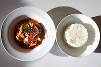 QUEENS, NY - January 13, 2015: Chicken Massaman Curry and Rice at Mamu Thai in Astoria,<br /> <br /> CREDIT: Clay Williams for Mamu Thai.<br /> <br /> &copy; Clay Williams / claywilliamsphoto.com