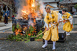 Japan, Kyoto, Setsubun Festival, special rituals to cleanse away all the evil of the former year and drive away disease-bringing evil spirits for the year to come