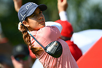 SINGAPORE - MARCH 03: Azahara Munoz of Spain on the 1st tee during the final round of the HSBC Women's World Championship 2019 at Sentosa Golf Club - Tanjong Course, Singapore on March 03, 2019.<br /> .<br /> .<br /> .<br /> (Photo by: Naratip Golf Srisupab/SEALs Sports Images)<br /> .<br /> Any image use must include a mandatory credit line adjacent to the content which should read: Naratip Golf Srisupab/SEALs Sports Images