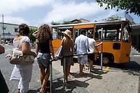 Italien, Capri, Bus-haltestelle in Anacapri
