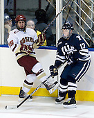 Joe Whitney (BC - 15), Andrew Miller (Yale - 17) - The Boston College Eagles defeated the Yale University Bulldogs 9-7 in the Northeast Regional final on Sunday, March 28, 2010, at the DCU Center in Worcester, Massachusetts.