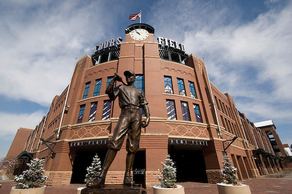 The Player (statue) at Coors Field for Colorado Rockies Baseball, Denver, Colorado. .  John offers private photo tours in Denver, Boulder and throughout Colorado. Year-round Colorado photo tours.