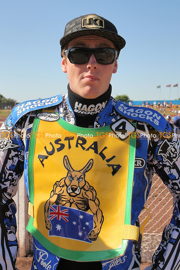 Darcy Ward of Australia - FIM Speedway World Under-21 Team Cup Semi Final at Arena Essex Raceway, Purfleet - 27/05/12 - MANDATORY CREDIT: Gavin Ellis/TGSPHOTO - Self billing applies where appropriate - 0845 094 6026 - contact@tgsphoto.co.uk - NO UNPAID USE.