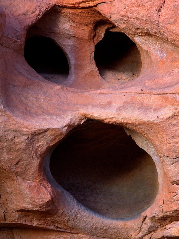 Rock formation that looks like a face. Valley of Fire State Park, Nevada