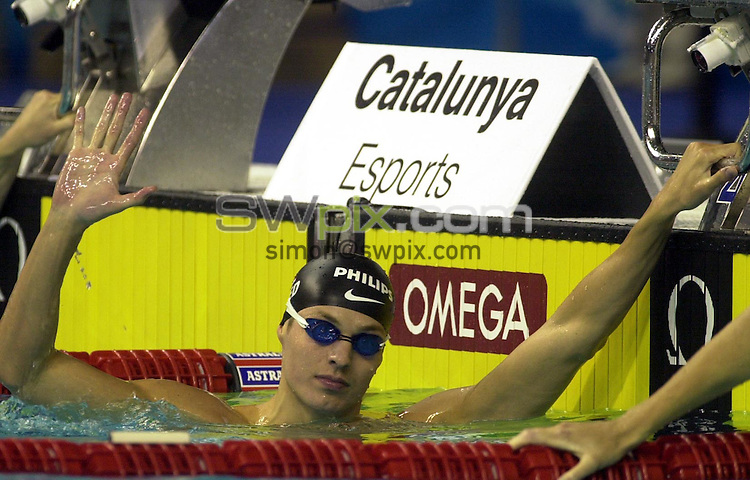 Pix: Matthew Lewis/SWpix.com. Swimming. 10th Fina World Championships 2003, Barcelona. 21/07/2003...COPYRIGHT PICTURE>>SIMON WILKINSON>>01943 436649>>..Holland's Pieter Van Der Hoogenband.