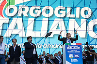 """Nello Musumeci (Member of #DiventeràBellissima, President of Sicilia Region).<br /> <br /> Rome, 19/10/2019. Today, tens thousands of people (200,000 for the organisers, 50,000 for the police) gathered in Piazza San Giovanni to attend the national demonstration """"Orgoglio Italiano"""" (Italian Pride) of the far-right party Lega (League) of Matteo Salvini. The demonstration was supported by Silvio Berlusconi's party Forza Italia and Giorgia Meloni's party Fratelli d'Italia (Brothers of Italy, right-wing).  <br /> The aim of the rally was to protest against the Italian coalition Government (AKA Governo Conte II, Conte's Second Government, Governo Giallo-Rosso, 1.) lead by Professor Giuseppe Conte. The 66th Government of Italy is a coalition between Five Star Movement (M5S, 2.), Democratic Party (PD – Center Left, 3.), and Liberi e Uguali (LeU – Left, 4.), these last two parties replaced Lega / League as new members of a coalition based on Parliamentarian majority as stated in the Italian Constitution. The Governo Conte I (Conte's First Government, 5.) was 14-month-old when, between 8 and 9 of August 2019, collapsed after the Interior Minister Matteo Salvini withdrew his euroskeptic, anti-migrant, right-wing Lega / League (6.) from the populist coalition in a pindaric attempt (miserably failed) to trigger a snap election.<br /> <br /> Footnotes & Links:<br /> 1. http://bit.do/feK6N<br /> 2. http://bit.do/e7JLx<br /> 3. http://bit.do/e7JKy<br /> 4. http://bit.do/e7JMP<br /> 5. http://bit.do/e7JH7<br /> 6. http://bit.do/eE7Ey<br /> https://www.leganord.org<br /> http://bit.do/feK9X (Source, TheGuardian.com)<br /> Reportage: """"La Fabbrica Della Paura"""" (The Factory of Fear): http://bit.do/feLcy (Source Report, Rai.it - ITA)<br /> (Update) Reportage: """"La Fabbrica Social Della Paura"""" (The Social Network Factory of Fear): http://bit.do/fe8Pn (Source Report, Rai.it - ITA)"""