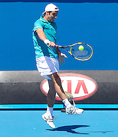 RICHARD GASQUET (FRA) against Andreas Seppi in the first round of the Men's Singles. Richard Gasquet beat Andreas Seppi 6-3 3-6 6-3 6-1 ..17/01/2012, 17th January 2012, 17.01.2012..The Australian Open, Melbourne Park, Melbourne,Victoria, Australia.@AMN IMAGES, Frey, Advantage Media Network, 30, Cleveland Street, London, W1T 4JD .Tel - +44 208 947 0100..email - mfrey@advantagemedianet.com..www.amnimages.photoshelter.com.