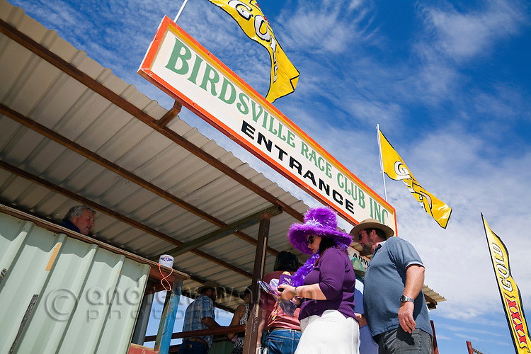 Race goers at the Birdsville racecourse for the annual Birdsville Cup, held in September in the outback town of Birdsville, Queensland, Australia