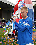 Careful Andy Mitchell, don't drop the lid of the trophy..  oops