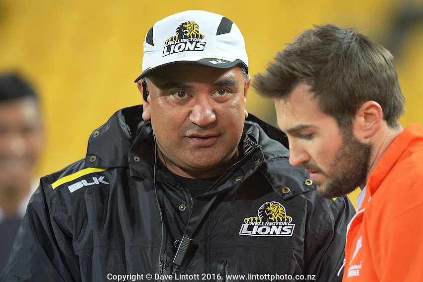 Lions manager Mila Poutoa during the Mitre 10 Cup rugby union match between Wellington Lions and North Harbour at Westpac Stadium, Wellington, New Zealand on Saturday, 3 September 2016. Photo: Dave Lintott / lintottphoto.co.nz
