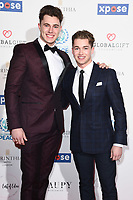 Cutis and AJ Pritchard<br /> arriving for the Football for Peace initiative dinner by Global Gift Foundation at the Corinthia Hotel, London<br /> <br /> ©Ash Knotek  D3493  08/04/2019