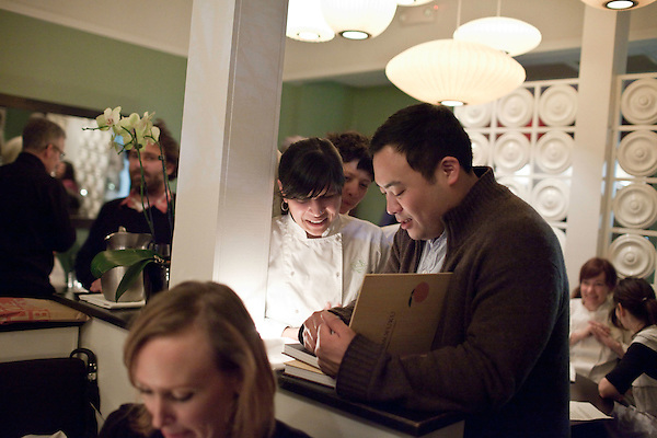 February 9, 2010. Chapel Hill, North Carolina.. Private dinner at Lantern with David Chang, author and owner of Momofuku.