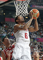USA's Derrick Rose (r) and Mexico's Gustavo Ayon during 2014 FIBA Basketball World Cup Round of 16 match.September 6,2014.(ALTERPHOTOS/Acero)